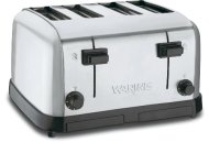 Waring Commercial WCT708 Medium Duty Brushed Chrome Steel Toaster with 4 Slots