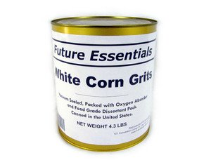 1 Can of Future Essentials White Corn Grits, #10 Can, 5 lbs Net Weight