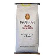Prairie Mills Yellow Corn Grits – 25 lb. bag