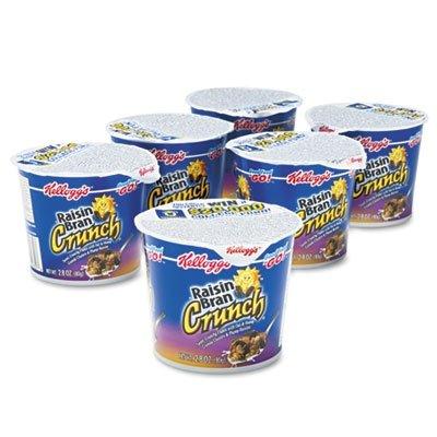 Breakfast Cereal, Raisin Bran Crunch, Single-Serve 2.8Oz Cup, 6/Box