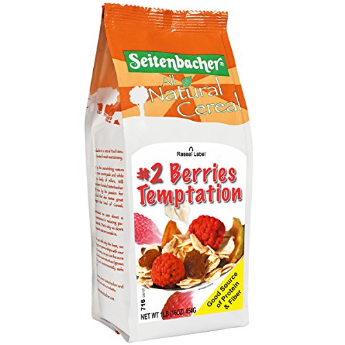 Seitenbacher Muesli #2 Berries Temptation with European Raspberries, Wheat Free, 16-Ounce Bags (Pack of 6)