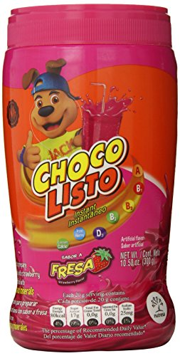 Choco Listo Instant Strawberry Drink Mix, 10.5 Ounce