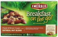 Emerald Breakfast on the Go! Maple and Brown Sugar Oatmeal Nut Blend, 7.5 Ounce (Pack of 8)