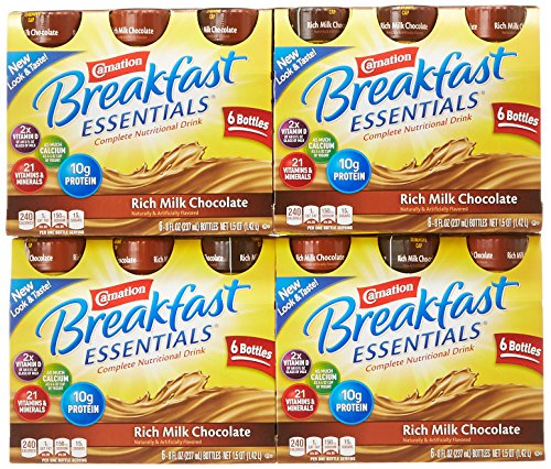 Carnation Breakfast Essentials Ready to Drink, Chocolate, 8 Fluid Ounce (Pack of 24)