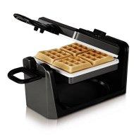 Oster CKSTWF11WC-ECO DuraCeramic Belgian Flip Waffle Maker, White
