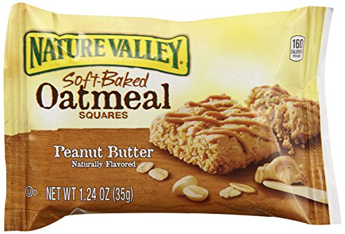 Nature Valley Soft Baked Oatmeal Squares, Peanut Butter, 7.44 Ounce