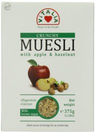 Vitalia Hazelnut Muesli, Apple, 13.3 Ounce (Pack of 6)