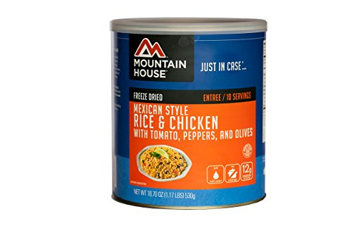 Mountain House #10 Can Mexican Style Rice and Chicken (10- 1 cup servings)