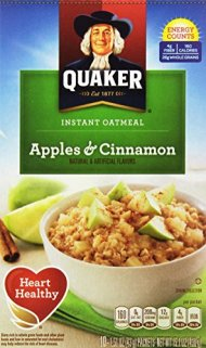 Quaker Oats Instant Oatmeal, Apples and Cinnamon, 15.1 Ounce