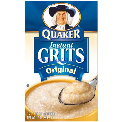 Quaker Grits Instant Original, 12-Count, Single Pack (12 Oz)