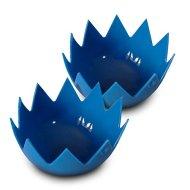LotusPoachers Silicone Egg Poachers (Set of 2)…Brand-New-Design…Premium Non Stick Egg Poaching Cups…Blue