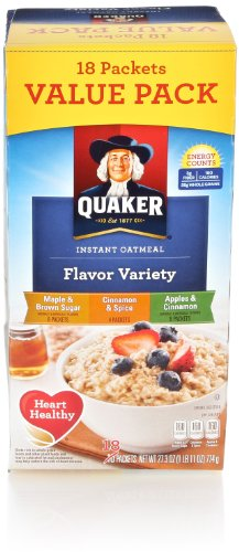 Quaker Instant Oatmeal, Variety Pack, 18 Count