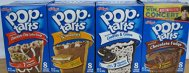 """Pop Tarts Frosted Variety Pack, CHOCOLATE Flavors: S""""mores, Cookies and Cream, Chocolate Chip Cookie Dough, Chocolate Fudge. Bundle of 4- 8 Count Boxes, 1 of Each Flavor. Great Care Package"""