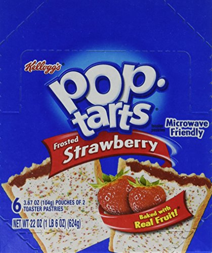 Kellogg's Frosted Pop-Tarts, Strawberry, 3.67 Ounce (Pack of 72)