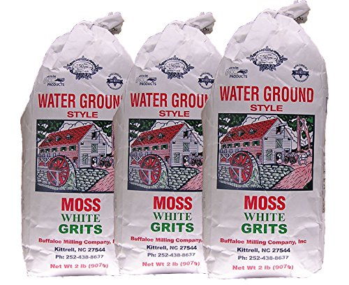 Moss Water Ground White Grits 2 Lbs 3 Pack