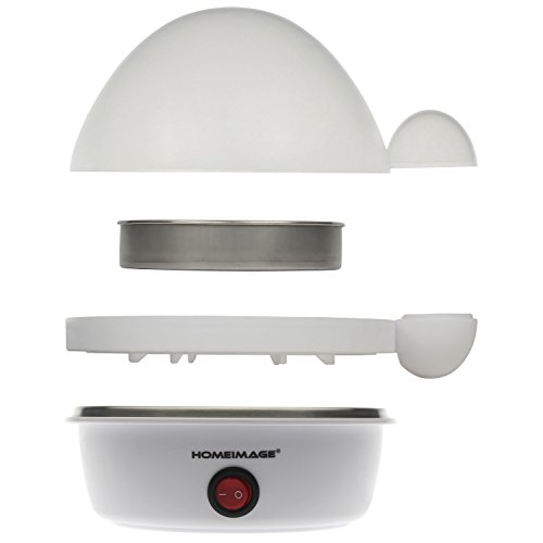 HOMEIMAGE Electric 7 Egg Boiler/Cooker with Stainless Steel Tray & Body – HI-200APP