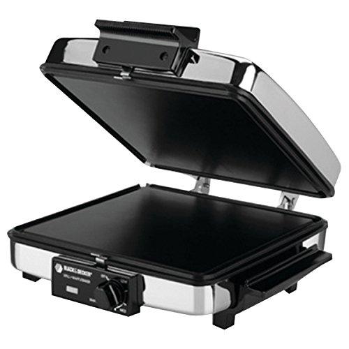 Black & Decker G48TD 3-in-1 Waffle Maker & Indoor Grill/Griddle, Silver