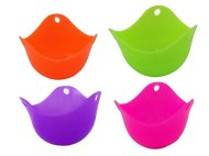 Silicone Egg Poacher Cookware Cups in Vivid Colors (4 Pack)
