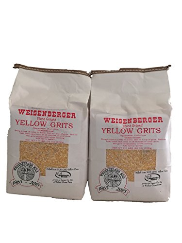 Weisenberger Mills Southern Yellow Grits Non Gmo – A Ky Proud Product 2lb ea Pkg 2 Packs