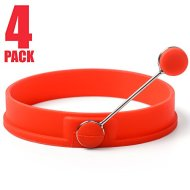Sunsella Silicone Egg & Pancake Rings – 4 Pack