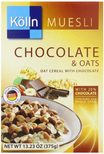 Kolln Cereals Muesli, Chocolate and Oats, 13.23 Ounce (Pack of 7)