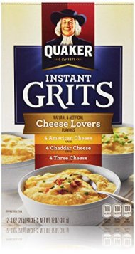 Quaker Oats Instant Grits, Cheese Lovers Variety Pack, 12 Ounce