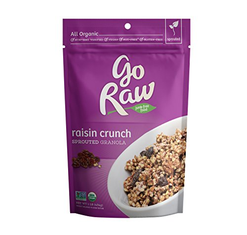 Go Raw 100% Organic Live Granola Cereal, 1 Pound Bags (Pack of 2)