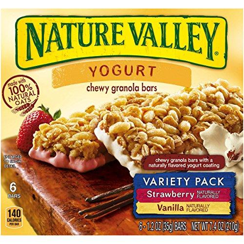 Nature Valley Strawberry/Vanilla Yogurt Chewy Granola Bars Variety Pack, 6 Count (Pack of 6)