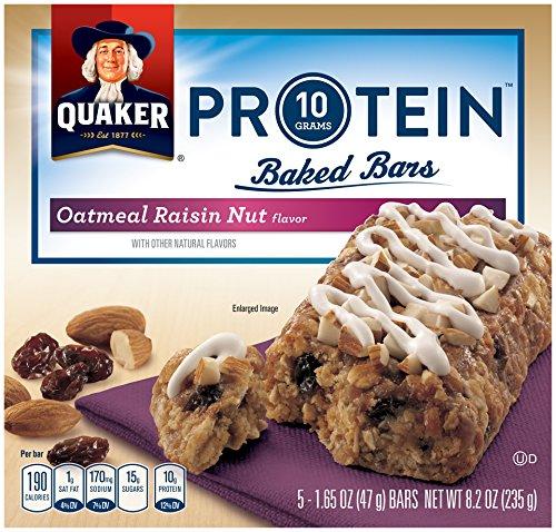 Quaker Protein Baked Bars, Oatmeal Raisin, 8.2 Ounce