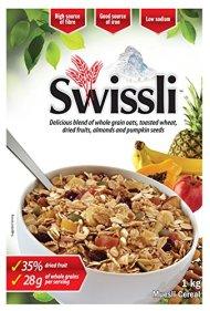 Swissli Muesli 35% Fruit & Nuts – 1kg/35 Ounce Boxes – 2 Pack