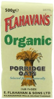 FLAHAVAN'S Organic Porridge Oats, 17.75-Ounce Bags (Pack of 6)