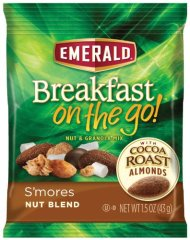 Emerald Breakfast on the Go! Blend and Granola Mix, S'Mores Nut, 7.5 Ounce
