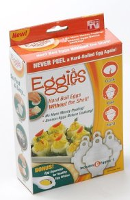 1 X Eggies Hard-Boiled Egg Cooker White