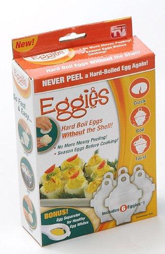 1 X Eggies Hard-Boiled Egg Cooker White