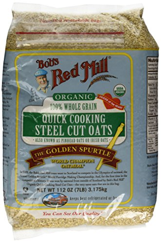 112oz Organic Steel Cut Oats Bob's Red Mill Quick Cooking 100% Whole Grain (7 Pounds Total) The Golden Spurtle