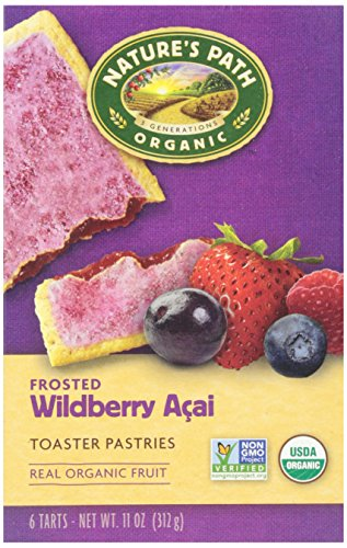 Natures Path Frosted Toaster Pastry, Wildberry Acai, 11 oz, 6 ct