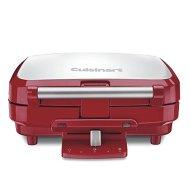 Cuisinart WAF-150R 4-Slice Belgian Waffle Maker, Stainless Steel/Red