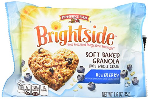 Pepperidge Farm Brightside Soft Baked Granola, Blueberry, 1.6 Ounce, 5 Count