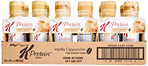 Kellogg's Special K Protein Cafe-Inspired Shake, Vanilla Cappuccino, 10 Ounce (Pack of 12)
