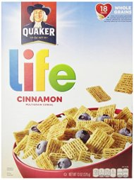 Quaker Cinnamon Life Cereal, 13 oz