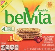 Belvita Cranberry Orange Biscuit, 8.8 Ounce (Pack of 6)