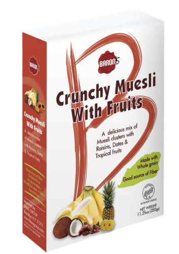 Baron's Kosher Crunchy Muesli with Fruits 11.25-ounce Box (Pack of 3)