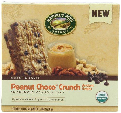 NATURE'S PATH ORGANIC Crunchy Granola Bars, Peanut Choco, 7.05-Ounce (Pack of 6)