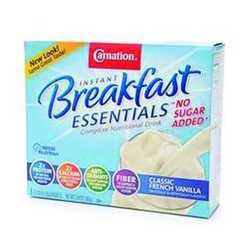 Carnation Breakfast Essentials, No Sugar Added French Vanilla, 0.705 oz, 8 ct