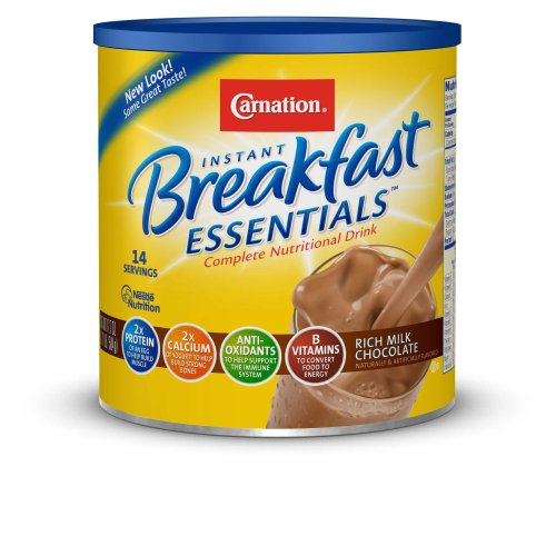 Carnation Instant Breakfast Essentials Drink Mix, Rich Milk Chocolate, 17.7-Ounce Canisters (Pack of 3)