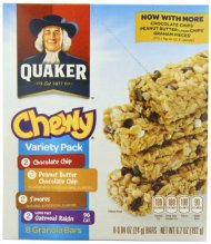 Quaker Chewy Granola Bar, Variety Pack,0.84 Ounce, 8-Count (Pack of 6)