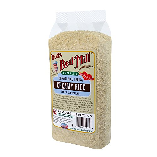 Bob's Red Mill Organic Brown Rice Farina Creamy Rice Hot Cereal, 26-Ounce Bags (Pack of 4)