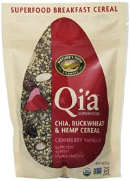 Nature's Path Qi'a Chia Buckwheat and Hemp Cereal, Cranberry Vanilla, 7.90 Ounce