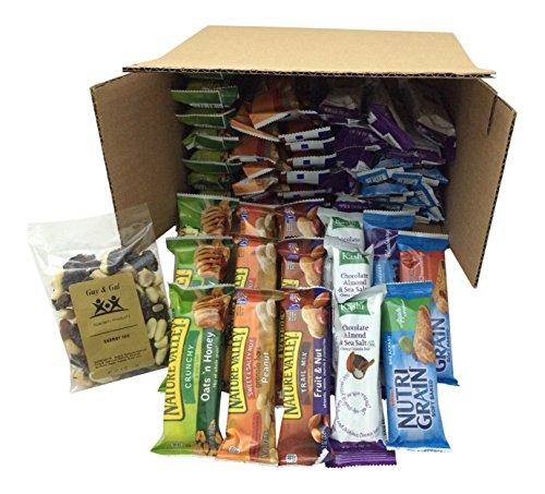 Healthy Bar Snack Mix – Sweet & Salty 50 Granola Bar Bundle – Special K, Kashi, Nature Valley + Bonus Guy & Gal Energy Mix
