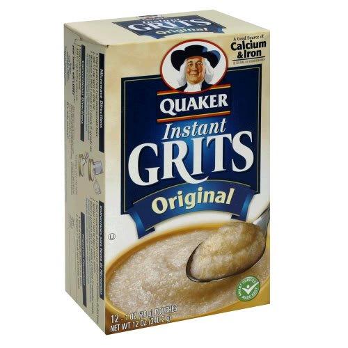 Quaker Instant Grits Original, 12-Count Box (Pack of 6)